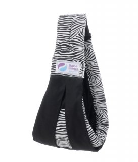 Baba Slings MOT558 Black Zebra