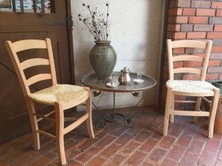 トルコ 藁編み椅子