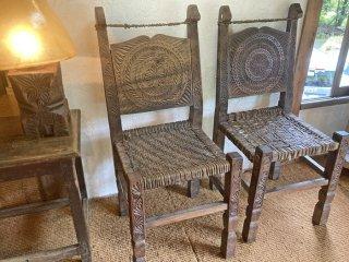 パキスタン スワートの椅子 2点