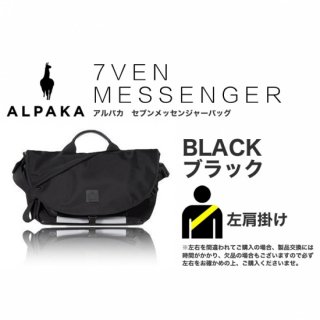 7VEN メッセンジャーバッグ ブラック 左掛け<img class='new_mark_img2' src='https://img.shop-pro.jp/img/new/icons61.gif' style='border:none;display:inline;margin:0px;padding:0px;width:auto;' />