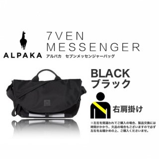 7VEN メッセンジャーバッグ ブラック 右掛け<img class='new_mark_img2' src='https://img.shop-pro.jp/img/new/icons61.gif' style='border:none;display:inline;margin:0px;padding:0px;width:auto;' />