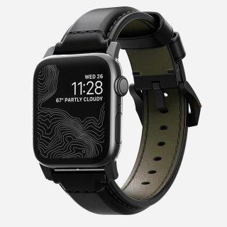 【Apple Watch Series 6/SE/5/4/3/2/1対応】NOMAD Shell Cordovan Strap ブラック 42mm/44mm