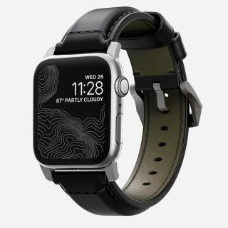【Apple Watch Series 6/SE/5/4/3/2/1対応】NOMAD Shell Cordovan Strap シルバー 42mm/44mm<img class='new_mark_img2' src='https://img.shop-pro.jp/img/new/icons59.gif' style='border:none;display:inline;margin:0px;padding:0px;width:auto;' />