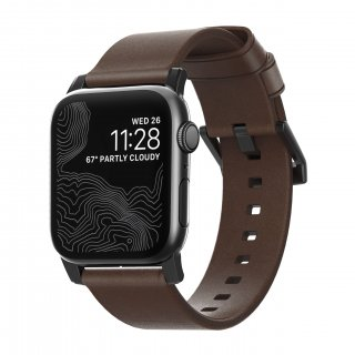 【Apple Watch Series 6/SE/5/4/3/2/1対応】NOMAD Horween Leather Modern Strap ブラウン(ブラック金具)42mm/44mm<img class='new_mark_img2' src='https://img.shop-pro.jp/img/new/icons61.gif' style='border:none;display:inline;margin:0px;padding:0px;width:auto;' />