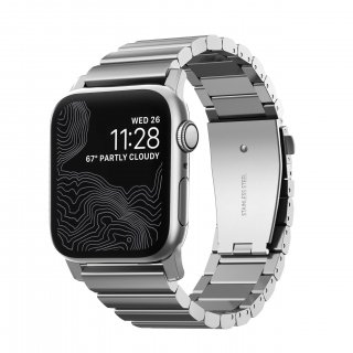 【Apple Watch Series 6/SE/5/4/3/2/1対応】NOMAD Stainless Steel Band シルバー 42mm/44mm<img class='new_mark_img2' src='https://img.shop-pro.jp/img/new/icons61.gif' style='border:none;display:inline;margin:0px;padding:0px;width:auto;' />