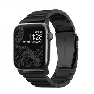【Apple Watch Series 6/SE/5/4/3/2/1対応】NOMAD Stainless Steel Band ブラック 42mm/44mm<img class='new_mark_img2' src='https://img.shop-pro.jp/img/new/icons61.gif' style='border:none;display:inline;margin:0px;padding:0px;width:auto;' />