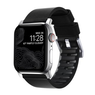 【Apple Watch Series 6/SE/5/4/3/2/1対応】NOMAD Active Strap Pro ブラック(シルバー金具)42mm/44mm<img class='new_mark_img2' src='https://img.shop-pro.jp/img/new/icons5.gif' style='border:none;display:inline;margin:0px;padding:0px;width:auto;' />