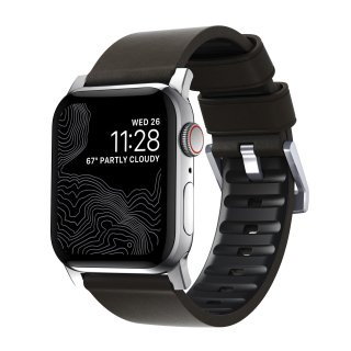 【Apple Watch Series 6/SE/5/4/3/2/1対応】NOMAD Active Strap Pro モカブラウン(シルバー金具)42mm/44mm<img class='new_mark_img2' src='https://img.shop-pro.jp/img/new/icons5.gif' style='border:none;display:inline;margin:0px;padding:0px;width:auto;' />