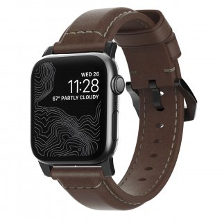 【Apple Watch Series 6/SE/5/4/3/2/1対応】NOMAD Horween Leather Traditional Strap ブラウン(ブラック金具)42mm/44mm<img class='new_mark_img2' src='https://img.shop-pro.jp/img/new/icons61.gif' style='border:none;display:inline;margin:0px;padding:0px;width:auto;' />