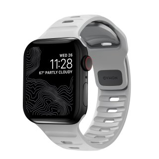 【Apple Watch Series 6/SE/5/4/3/2/1対応】NOMAD Sport Strap 2 ルナグレー 42mm/44mm<img class='new_mark_img2' src='https://img.shop-pro.jp/img/new/icons5.gif' style='border:none;display:inline;margin:0px;padding:0px;width:auto;' />