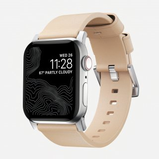 【Apple Watch Series 6/SE/5/4/3/2/1対応】NOMAD Horween Leather Modern Strap ナチュラル(シルバー金具)42mm/44mm<img class='new_mark_img2' src='https://img.shop-pro.jp/img/new/icons5.gif' style='border:none;display:inline;margin:0px;padding:0px;width:auto;' />