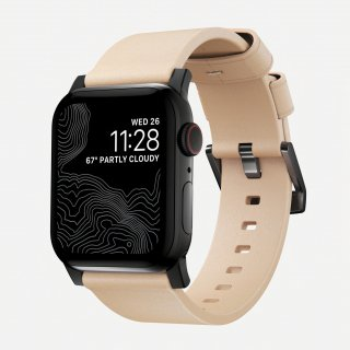 【Apple Watch Series 6/SE/5/4/3/2/1対応】NOMAD Horween Leather Modern Strap ナチュラル(ブラック金具)42mm/44mm<img class='new_mark_img2' src='https://img.shop-pro.jp/img/new/icons5.gif' style='border:none;display:inline;margin:0px;padding:0px;width:auto;' />