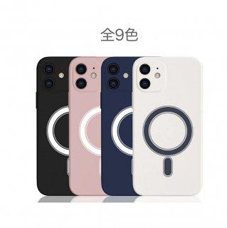 iPhone12 Pro mini Max magsafe対応ケース 液体シリコンケース 全9色