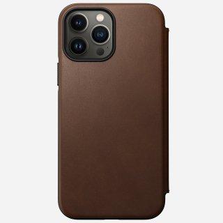 【10月中旬入荷予定分先行ご予約販売】NOMAD Modern Leather Folio for iPhone 13 Pro ブラウン<img class='new_mark_img2' src='https://img.shop-pro.jp/img/new/icons5.gif' style='border:none;display:inline;margin:0px;padding:0px;width:auto;' />