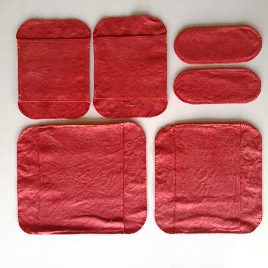 手縫い茜染め布ナプキン