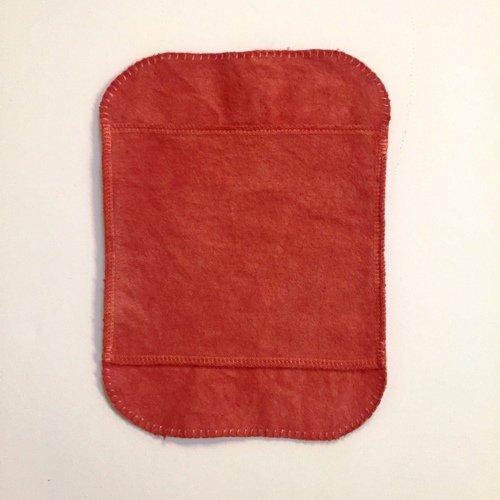 手縫い茜染め布ナプキン(小)単品