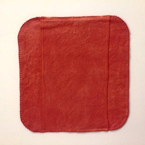 手縫い茜染め布ナプキン(中)単品