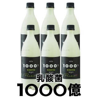 麹醇堂 1000億プリバイオマッコリ 750ml×6本 常温便・クール冷蔵便可