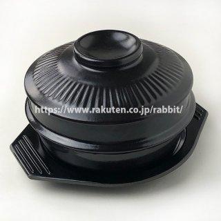 トゥッペギ 直径17cm×1個、フタ、メラミン製トレー付き トゥペギ サムゲタン チゲ鍋に(直径170mm・内径157mm・深さ80mm)韓国 土鍋 トッペギ 常温便・クール冷蔵便可
