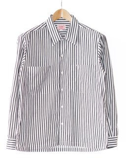 BIG MIKE(ビッグマイク) WIDE CHEST STRIPE SHIRTS(ワイドチェストストライプシャツ)