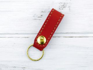 ベルトホルダー 栃木レザーA レッド(ナチュラル)真鍮金具