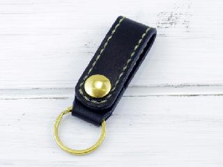 ベルトホルダー 栃木レザーA ネイビー(ナチュラル)真鍮金具