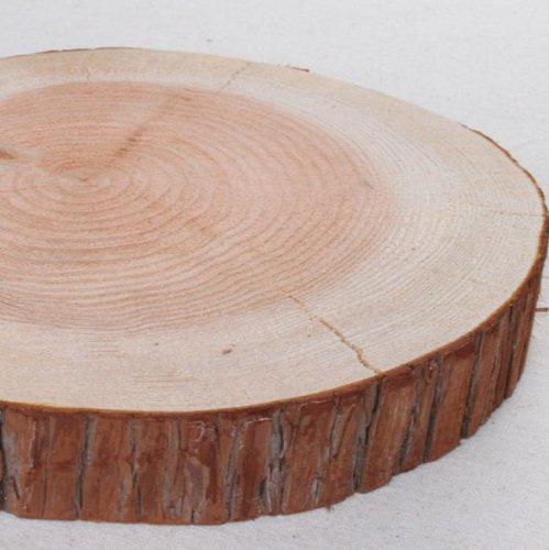木の年輪板 すぎ 樹皮つき Sサイズ(15-20cm)