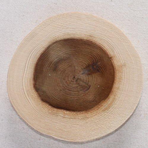 木の年輪板 すぎ 樹皮なし Sサイズ(15-20cm)