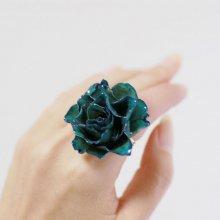 青い薔薇の指輪・ブルー