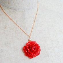 本物のバラのネックレス・フレンチローズ