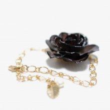 黒いバラのブレスレット・ブラック