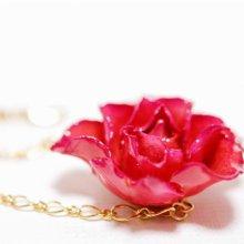 ピンクのバラのブレスレット・ピンク