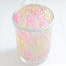 モザイクガラス花器・ピンクゴールド(11.5φ×15H)