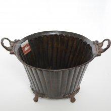 ブラスベース・真鍮花器M(h19x24x21)