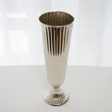 真鍮花器・ニッケル仕上げブラスベース(h33xφ11.5)