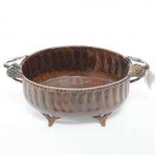 ブラスベース・真鍮花器(h11x30x17)