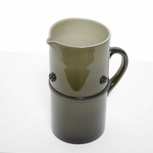ガラス花器水さし・グレイパープル (h23xφ11)