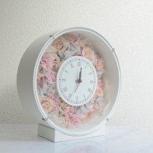花の時計・アンティークピンク