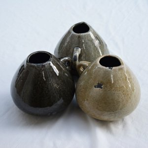 アンティーク調水差し S・陶器花器(φ13(14)xh13� )