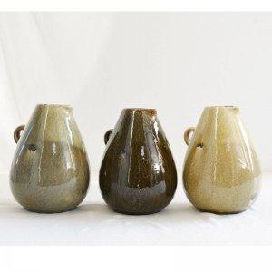 アンティーク調水差し M・陶器花器(φ15(16)xh21� )