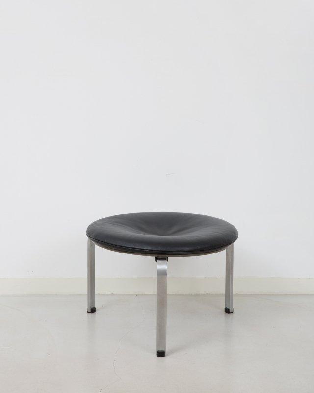 Poul Kjeaholm  Leather stool PK33