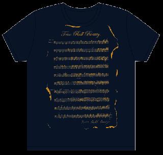 ドラム譜 Tシャツ/ネイビー