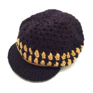 ラスタ帽 ブラウン