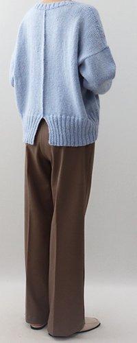 手編み製図 バックシームセーター【N51】