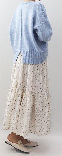 キット 手編み製図バックシームセーター【N51】