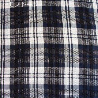 30%オフ  カラミ織タータンチェックグリーン0.9m