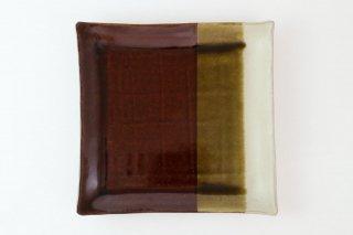 MAHITO POTTERY 比呂 [笠間焼]<br>Square Plate L (角皿 大)