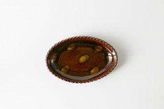 MAHITO POTTERY 比呂 [笠間焼]<br>オーバル皿 S