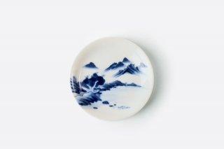 [江戸から近代の器]<br>小皿(山水柄)