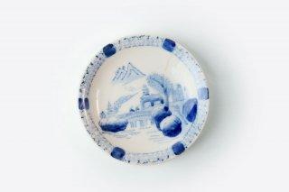 【アウトレット品】<br>[江戸から近代の器]<br>取り皿5寸(橋を渡る人)